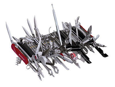 giant swiss army knife solving problems